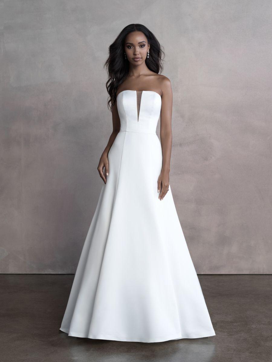 Allure Bridals strapless gown Style: 9804